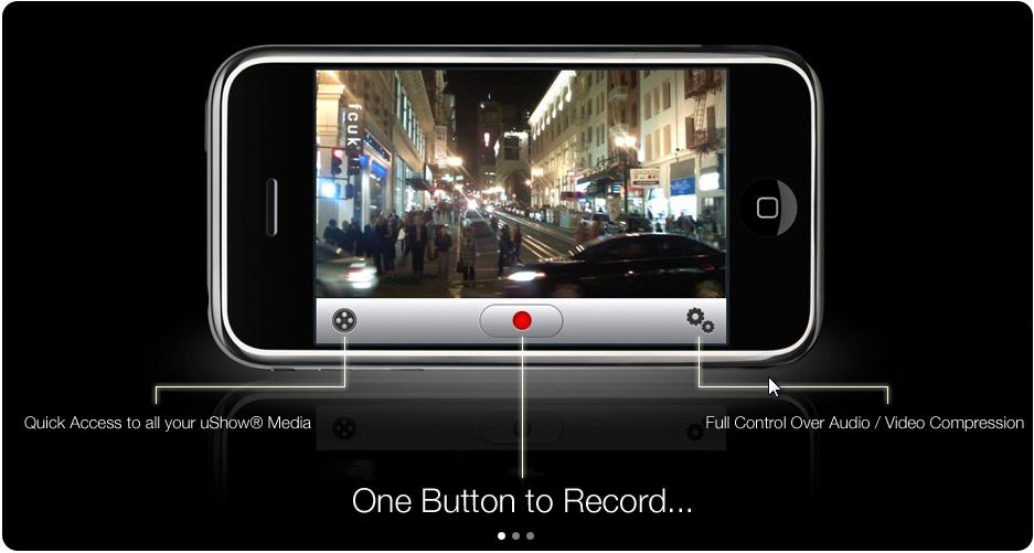 uShow - enregistrement et partage de video iPhone